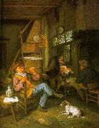 Cornelis Dusart Pipe Smoker oil painting artist