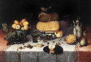 DIJCK, Floris Claesz van Still-Life with Cheesesv   sdd oil