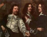 DOBSON, William The Painter with Sir Charles Cottrell and Sir Balthasar Gerbier dfg oil painting artist