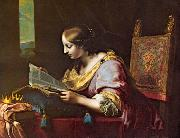 DOLCI, Carlo St Catherine Reading a Book sd oil