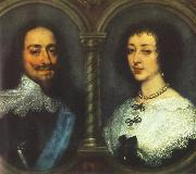 DYCK, Sir Anthony Van Charles I of England and Henrietta of France dfg oil painting picture wholesale