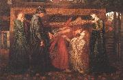 Dante Gabriel Rossetti Dante's Dream at the Time of the Death of Beatrice oil painting picture wholesale