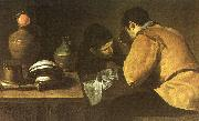 Diego Velazquez Two Men at a Table oil painting artist