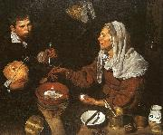 Diego Velazquez An Old Woman Cooking Eggs oil