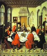 Dieric Bouts Last Supper central section of an alterpiece oil painting picture wholesale