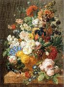 ELIAERTS, Jan Frans Bouquet of Flowers in a Sculpted Vase dfg oil painting artist