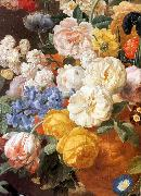 ELIAERTS, Jan Frans Bouquet of Flowers in a Sculpted Vase (detail) f oil painting artist