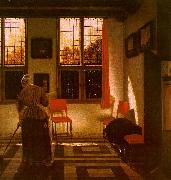ELINGA, Pieter Janssens Room in a Dutch House g oil painting artist