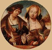 ENGELBRECHTSZ., Cornelis St Cecilia and her Fiance sdf oil painting artist