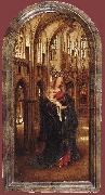 EYCK, Jan van Madonna in the Church dfh oil painting artist