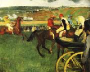 Edgar Degas The Race Track Amateur Jockeys near a Carriage oil painting picture wholesale