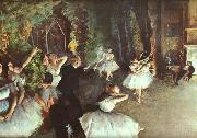 Edgar Degas Rehearsal on the Stage France oil painting reproduction
