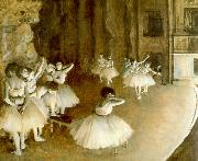 Edgar Degas Ballet Rehearsal on Stage France oil painting reproduction