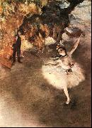 Edgar Degas The Star Dancer on Stage oil painting picture wholesale
