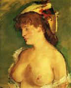 Edouard Manet Blonde Woman with Naked Breasts oil painting picture wholesale