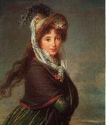 Elisabeth LouiseVigee Lebrun Portrait of a Young Woman-p oil