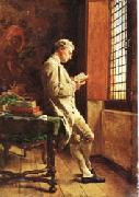 Ernest Meissonier The Reader in White oil painting artist