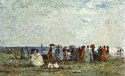 Eugene Boudin Bathers on the Beach at Trouville oil painting artist