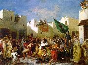 Eugene Delacroix The Fanatics of Tangier France oil painting reproduction
