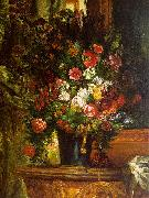 Eugene Delacroix Bouquet of Flowers on a Console_3 France oil painting reproduction
