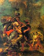 Eugene Delacroix The Abduction of Rebecca France oil painting reproduction