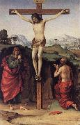 FRANCIA, Francesco Crucifixion with Sts John and Jerome de oil painting artist
