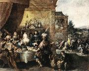 FRANCKEN, Ambrosius Feast of Esther dfh oil painting picture wholesale