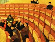 Felix Vallotton The Third Gallery at the Theatre du Chatelet oil painting picture wholesale