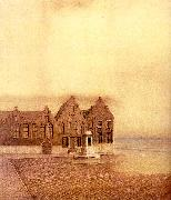 Fernand Khnopff The Abandoned Town oil painting artist