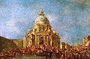 Francesco Guardi The Doge of Venice goes to the Salute on 21 November to Commemorate the end of the Plague of 1630 oil painting picture wholesale