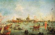 Francesco Guardi The Doge in the Bucentaur at San Nicolo di Lido on Ascension Day oil painting picture wholesale