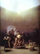 Francisco Jose de Goya Yard of Madhouse oil painting reproduction