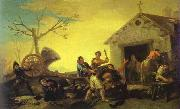 Francisco Jose de Goya Fight at Cock Inn oil painting artist