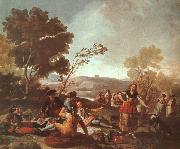Francisco de Goya Picnic on the Banks of the Manzanares oil painting picture wholesale