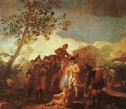 Francisco de Goya Blind Man Playing the Guitar oil painting picture wholesale