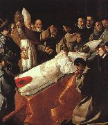 Francisco de Zurbaran The Lying in State of St.Bonaventura oil painting artist