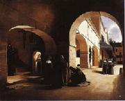 Francois Bonvin The Ave Maria;Interior of a Convent at Aramont,Verberie(Oise) oil painting