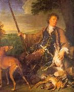 Francois Desportes Self Portrait in Hunting Dress oil painting artist