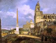 Francois-Marius Granet The Church of Trinita dei Monti in Rome oil painting artist