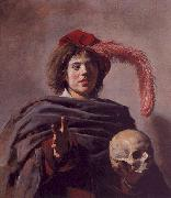 Frans Hals Portrait of a Young Man with a Skull oil painting picture wholesale