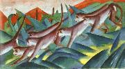 Franz Marc Monkey Frieze oil painting picture wholesale