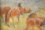 Franz Marc Grazing Horses I oil painting picture wholesale