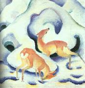 Franz Marc Deer in the Snow oil painting picture wholesale