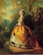 Franz Xaver Winterhalter The Empress Eugenie a la Marie-Antoinette oil painting artist