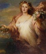 Franz Xaver Winterhalter Spring  Der Frubling oil painting picture wholesale