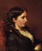 Franz Xaver Winterhalter Study of a Girl in Profile oil painting picture wholesale