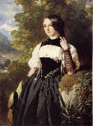 Franz Xaver Winterhalter A Swiss Girl from Interlaken oil painting picture wholesale