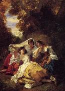 Franz Xaver Winterhalter La Siesta oil painting picture wholesale