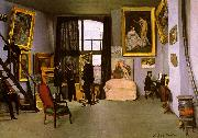 Frederic Bazille The Artist's Studio on the Rue de la Condamine France oil painting reproduction