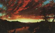 Frederick Edwin Church Secluded Landscape at Sunset oil painting picture wholesale